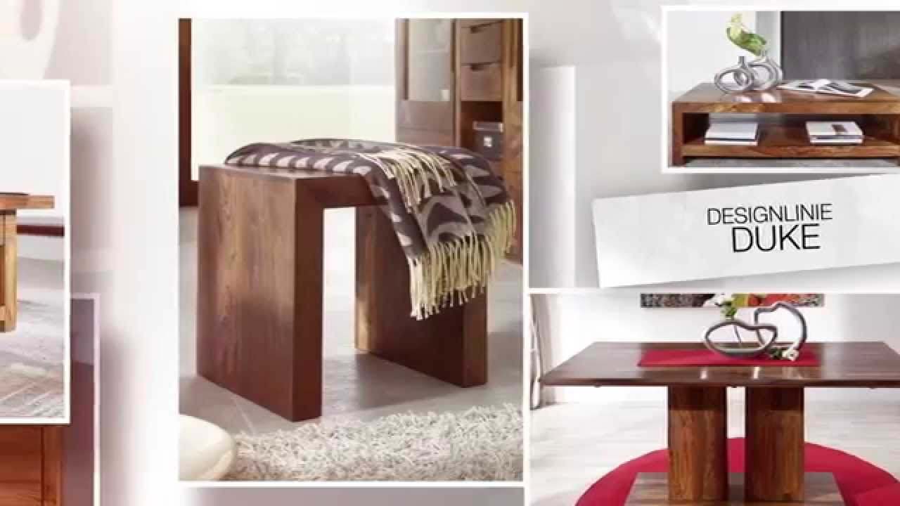 puristische sheesham palisander m bel von design duke youtube. Black Bedroom Furniture Sets. Home Design Ideas