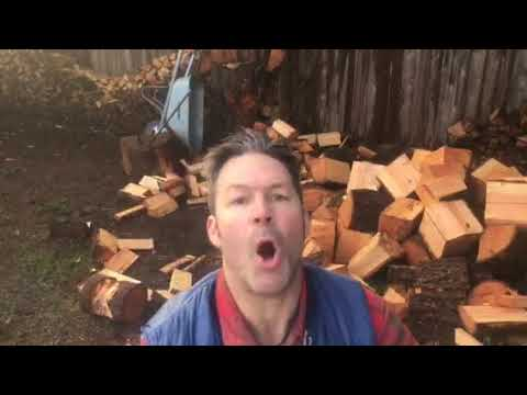 Someone requested and splitting firewood