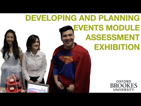Developing and Planning Events Assessment Exhibition (BA Events Management)