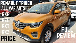 Renault TRIBER All Variants PRICE DETAILS REVIEW - Renault Triber 2019 FULL Detailed Review | Triber