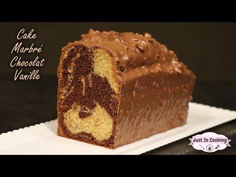 recette-de-cake-marbré-chocolat-vanille-glaçage-rocher