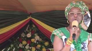 First Lady, Amai Grace Mugabe: MUREHWA RALLY