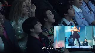BTS (JK, RM and Jin) reaction to Ariana Grande