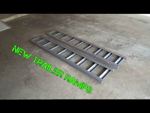 Making A New Set of Trailer Ramps