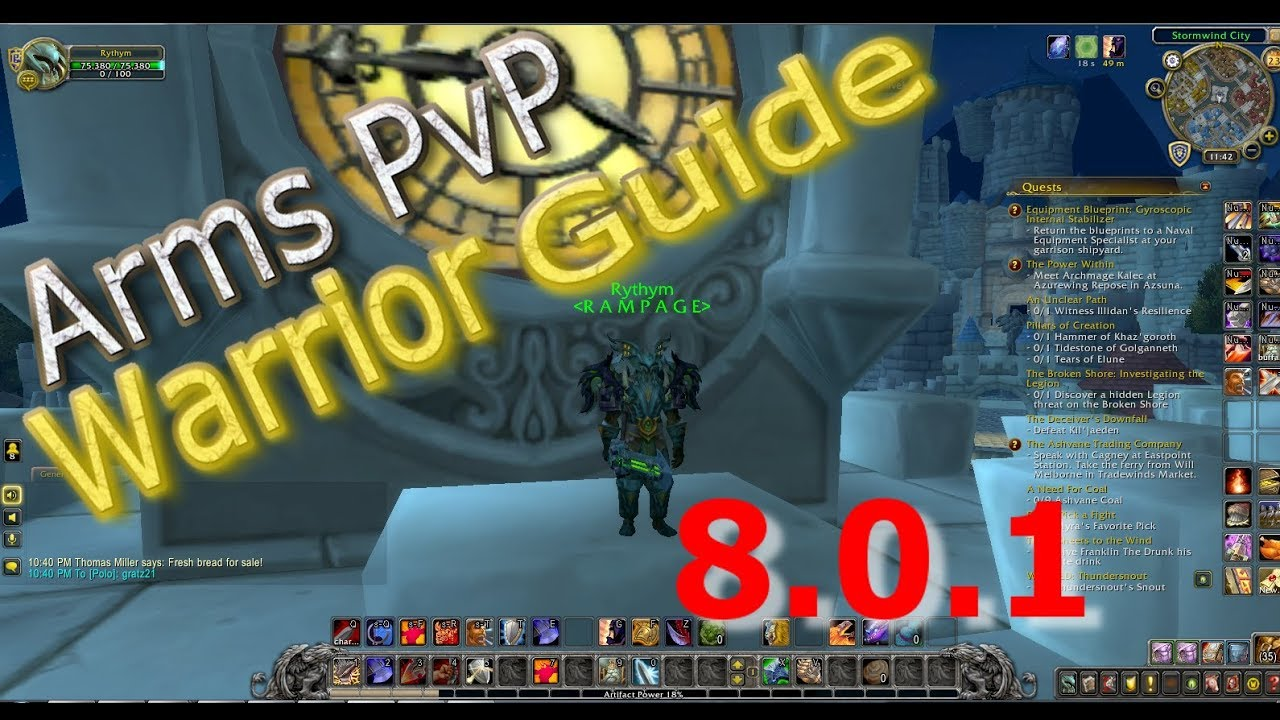 Arms Warrior PvP Guide (Battle for Azeroth 8.1.5) - Noxxic