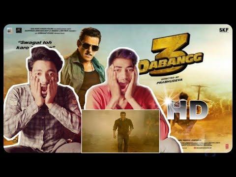 Dabanng 3 official Trailer Reaction | Salman Khan | Sonakshi Sinha |Prabhu Deva |Re Reactions