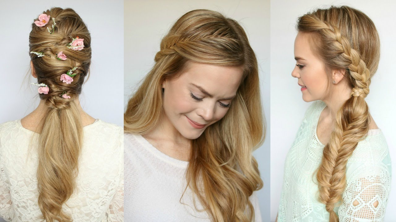 3 Spring Hairstyles | Missy Sue - YouTube