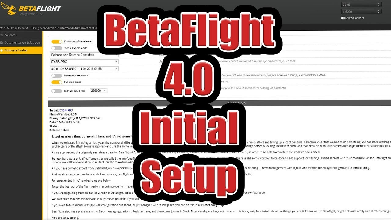 Betaflight 4 0 - Initial Setup Guide