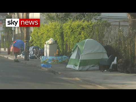 Coronavirus: How homeless camps have grown in LA