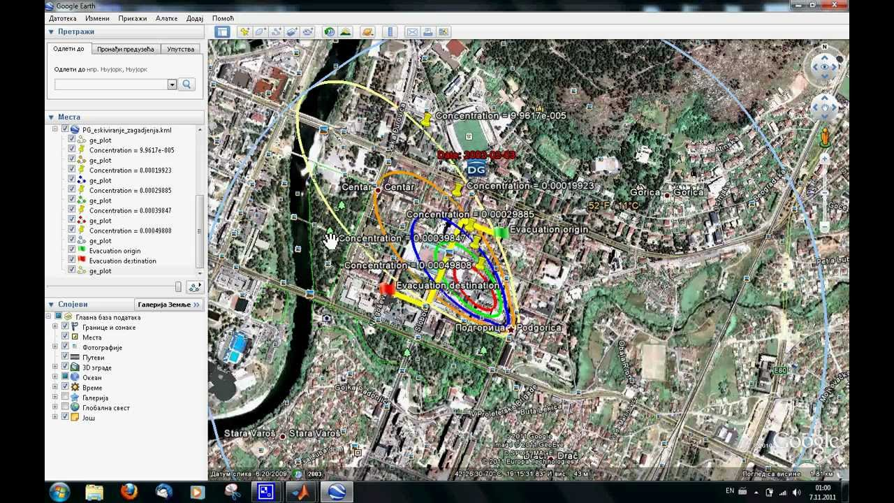 MATLAB - Google Earth GUI and software for air pollution dispersion, M   Dragović