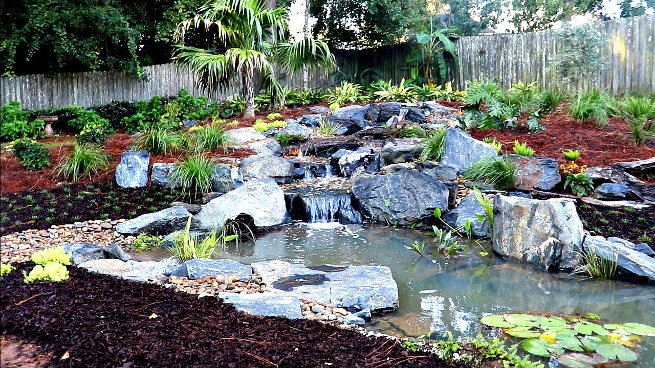 Building a backyard bass pond day 2 youtube for Design of farm pond ppt