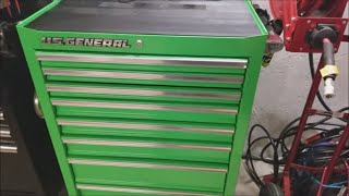 Harbor Freight Shopping Tŗip Ends In Buying A US General Tool Cabinet!