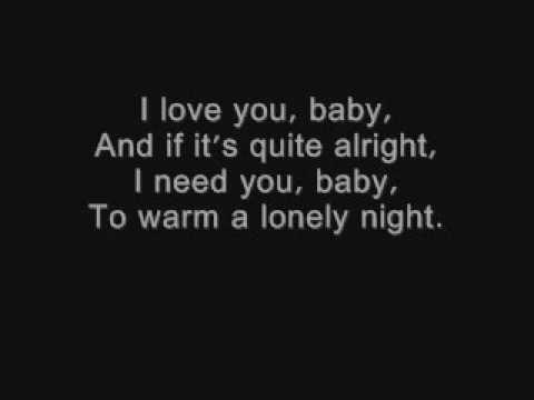 I love you baby Frank Sinatra lyrics wmv - YouTube