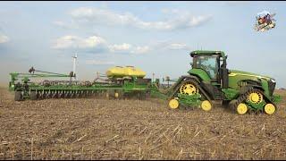 3 John Deere 72 Row Planters planting Soybeans in Ohio