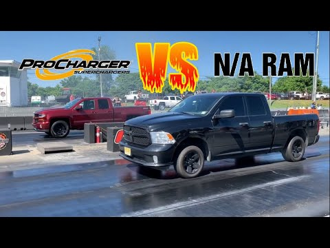 Procharged Silverado CALLS OUT my Cammed Ram and gets STOMPED!!!