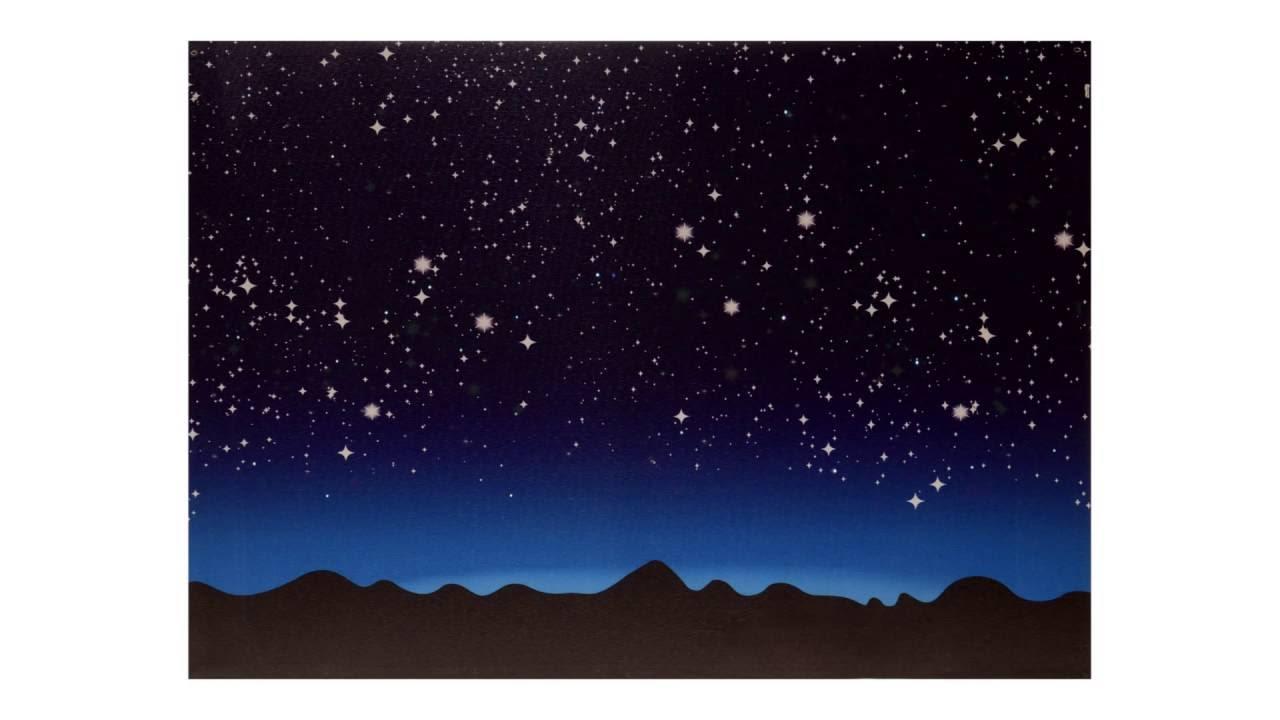 Cielo Luminoso con Montagne per presepe  YouTube