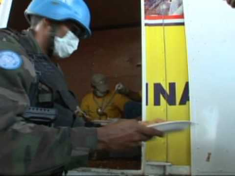 Haiti Earthquake:  Food Distribution by UN Peacekeepers