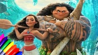 DISNEY Princess Moana From The Creator Of FRozen Coloring Book Page Fun For Kids To Learn