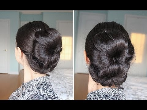 Double Bun Hairstyle YouTube - Hairstyle bun videos