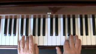 White Christmas - Easy piano lesson (Part 1)