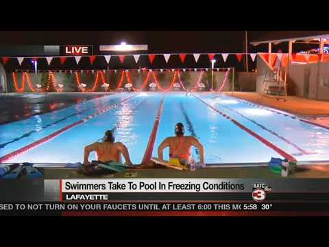 Swimmers At Crawfish Aquatics Brave The Temps For Exercise