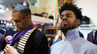 Golden State Warriors' Quinn Cook goes suit shopping