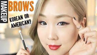 MY CURRENT BROW ROUTINE: Korean or 'Western'? 미정이의 눈썹 그리기 튜토리얼 | MEEJMUSE
