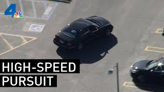 Driver Leads Authorities on Chase in San Fernando Valley