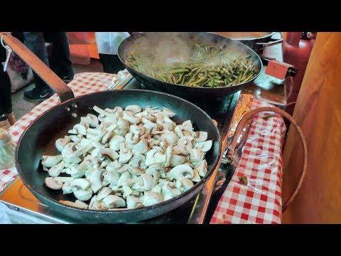 Spanish Food Fresh Cooked on the Road. Street Food of Islington, London