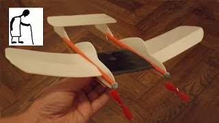 Twin engine rubber band powered plane