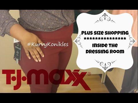 PLUS SIZE Shopping Inside the Dressing Room | TJmaxx