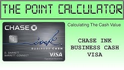 Chase Ink Business Cash Value Calculator