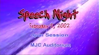 Modesto Junior College Speech Night : Spring 2002