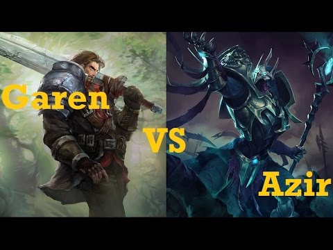 Garen VS Azir - League of Legends Live Commentary