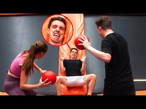 CLICK PLAYS TRAMPOLINE DODGE BALL!