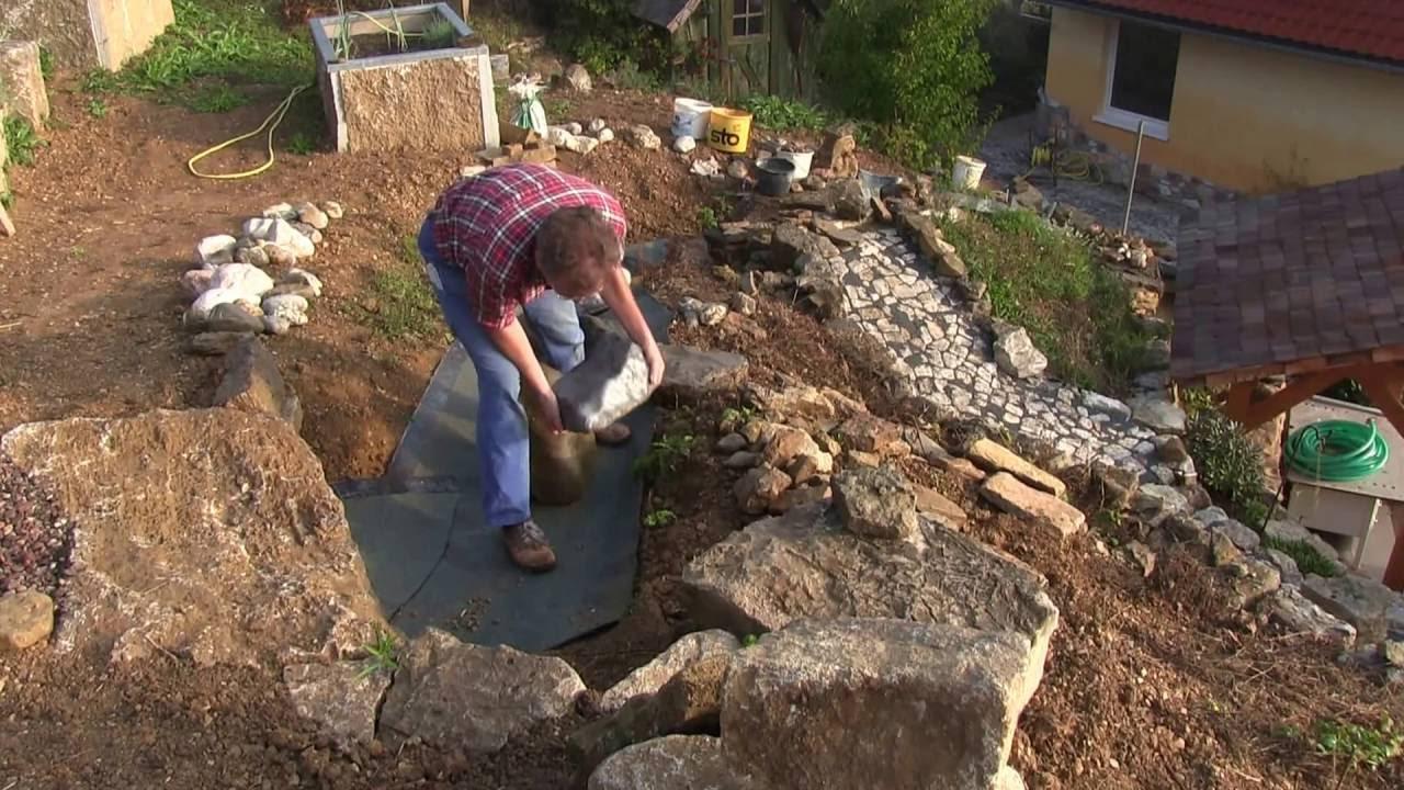 emejing steingarten mit wasserlauf images amazing home