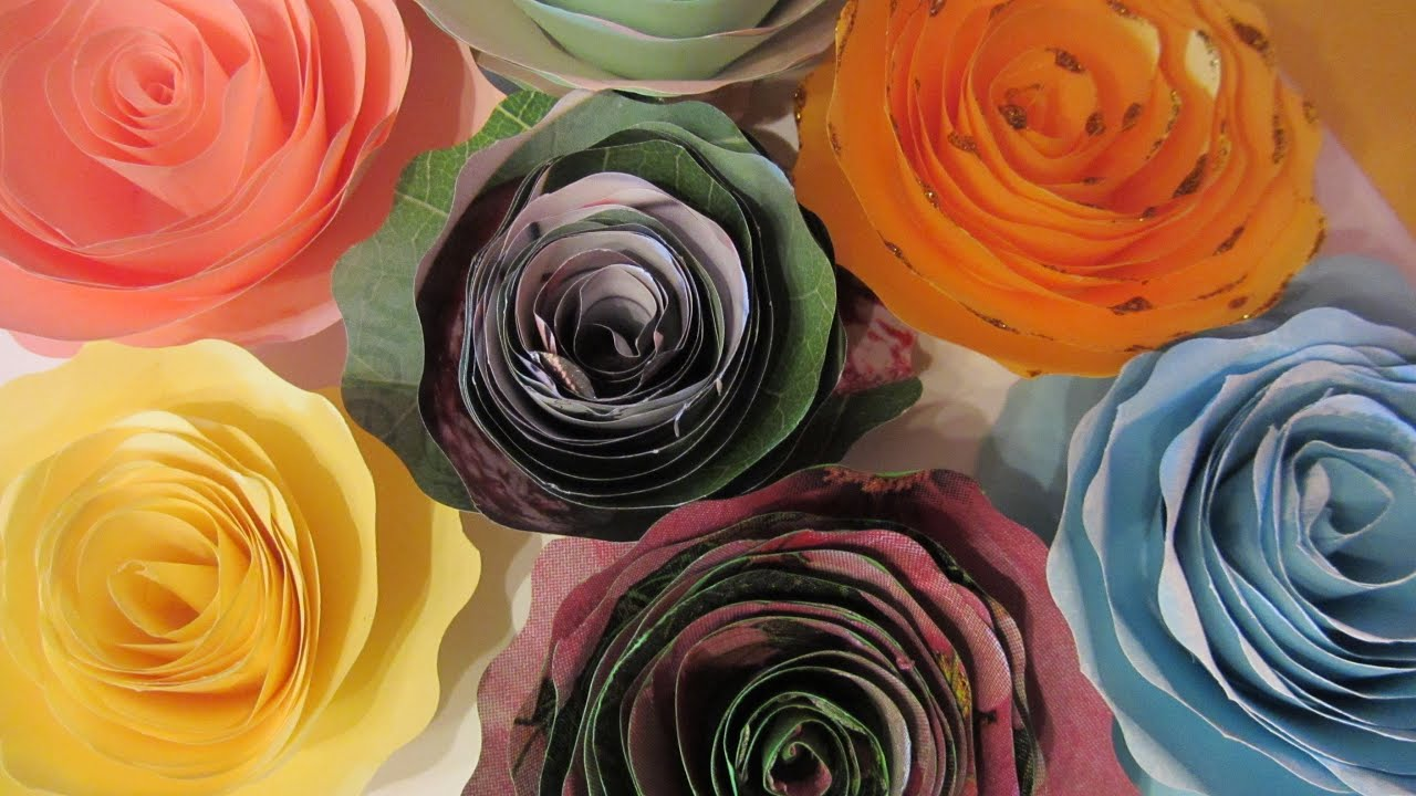 Tutorial rosas de papel paper roses doovi for Rosas de papel