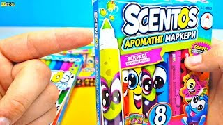 ОБЗОР на фломастеры SCENTOS !!!Drawing Fruits with Scentos Markers and Surprise Toys