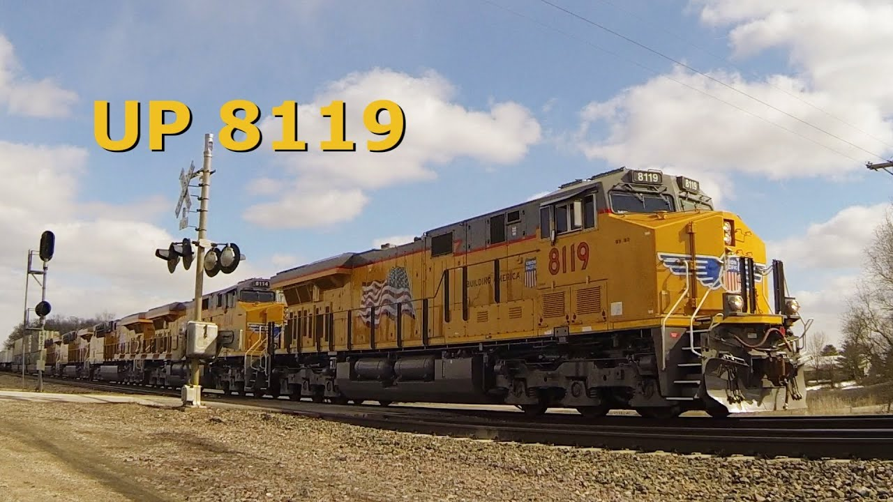 UP 8119 West - Five New GE ES44AC Engines on 3-25-2014