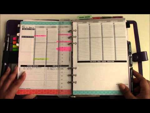 My Monthly Review in my Planner - March 2014
