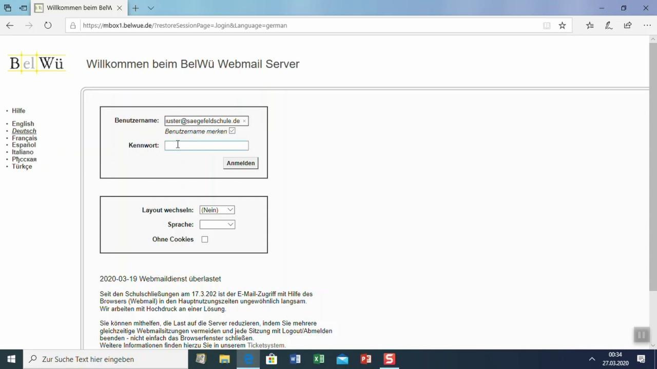 belwü webmail