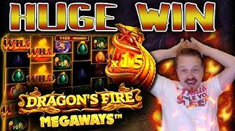 Winning HUGE on Dragon's Fire Megaways!