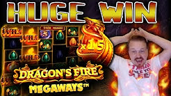 Winning HUGE on Dragon's Fire Megaways!