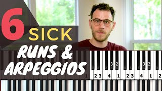 6 Killer Runs and Arpeggios for Modern Improv [Jazz Piano Tutorial]