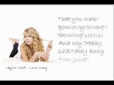 Taylor Swift Love Story With Lyrics And Pictures Youtube