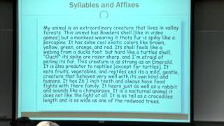 Educ 151. Lec 08. Language and Literacy: Understanding English Orthography, Part II