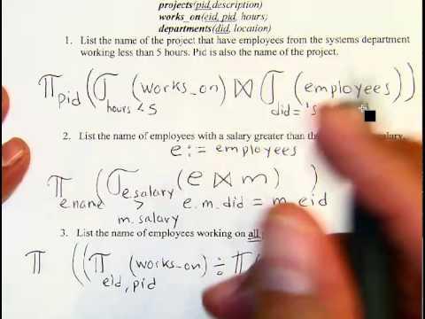 Relational Algebra Exercises