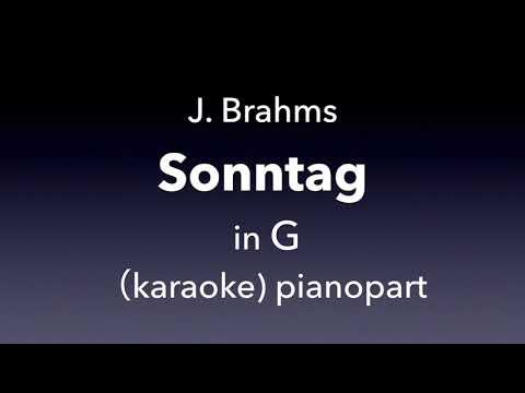 Sontag   J. Brahms  in G   karaoke