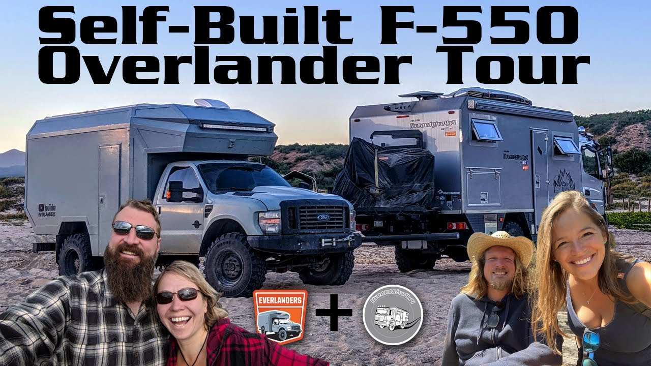Awesome Full Tour Ford F550 4x4 self-build Truck ► | Overlanders Living the Vanlife