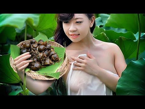 Beautiful girl Cooking -  Cambodia Traditional Food -  Village Food Factory